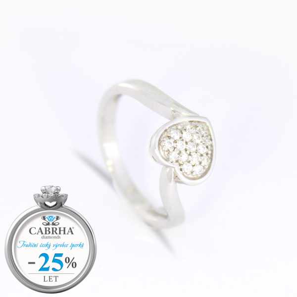 Kolekce EMOTION - prsten CABRHA diamonds PURE LOVE