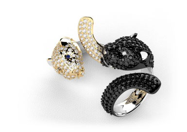 Kolekce NATUR MAGIC - prsten CABRHA diamonds LEOPARD
