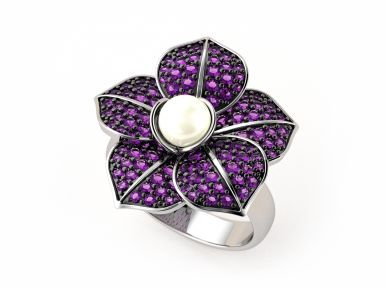 Kolekce NATUR MAGIC - prsten CABRHA diamonds VIOLET
