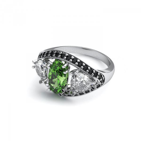 Kolekce ORIENT - prsten CABRHA diamonds GREEN EYE